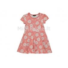 Suknelė trumpomis rankovėmis su gėlytėmis